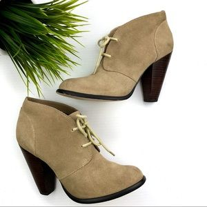 Seychelles tan Suede Lace-up Ankle Boots heeled